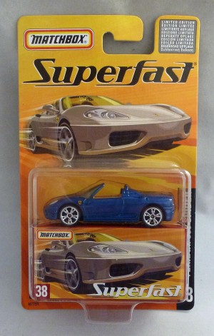 Matchbox Superfast MB38 Ferrari 360 Spider Blue
