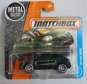 Matchbox MB3 '16 Fiat 500X Short Card