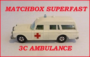 Matchbox Superfast MB3 Mercedes Ambulance 3c