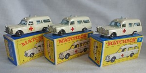 Matchbox Picture Box Collection Preview MB3c RW Mercedes Ambulance