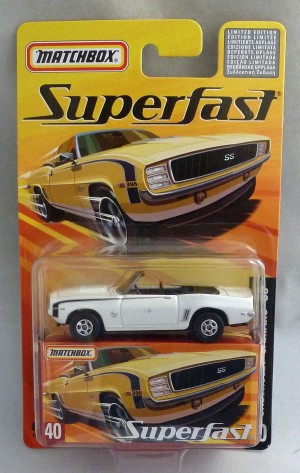 Matchbox Superfast MB40 Chevrolet Camaro SS White