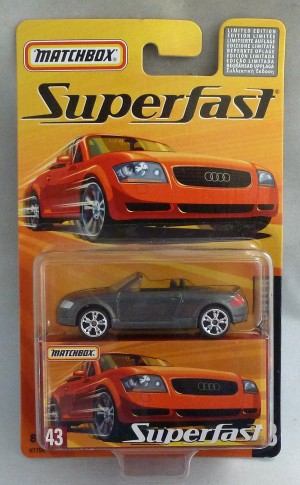 Matchbox Superfast MB43 Audi TT Roadster Metallic Grey