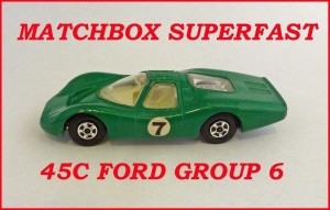 Matchbox Superfast MB45 Ford Group 6 45c