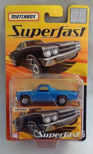 Matchbox Superfast MB46 1970 Chevy El Camino Blue