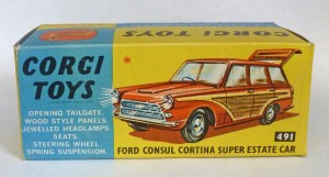 Corgi Toys 491 Ford Consul Cortina Original Empty Box