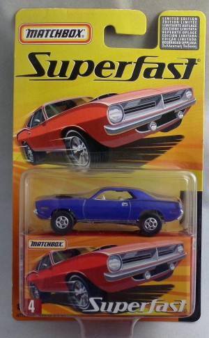 Matchbox Superfast MB4 Plymouth Hemi Cuda Purple
