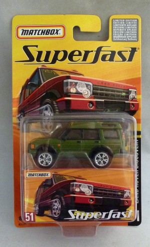 Matchbox Superfast MB51 Land Rover Discovery Olive Green