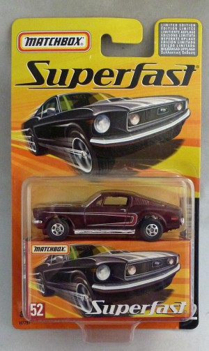 Matchbox Superfast MB52 Ford Mustang 428 Metallic Maroon