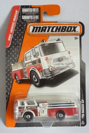 Matchbox MB55 MBX '75 Mack CF Fire Engine Long Card