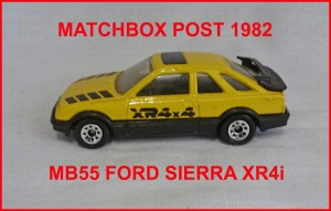 Matchbox MB55 Ford Sierra XR4i