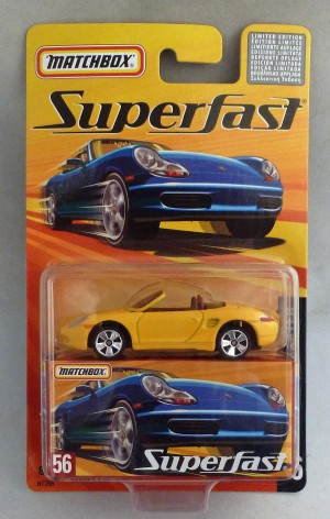 Matchbox Superfast MB56 Porsche Boxter Darker Yellow