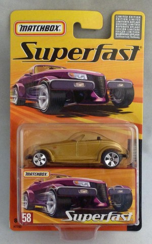 Matchbox Superfast MB58 Plymouth Prowler Gold