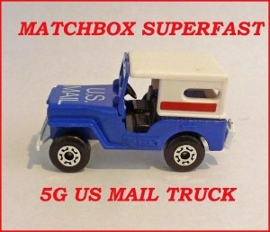 Matchbox Superfast MB5 US Mail Jeep 5g