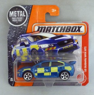 Matchbox MB60 '15 Subaru WRX STI Police Car Short Card
