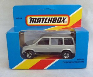 Matchbox Blue Box MB64f Chrysler Caravan Silver