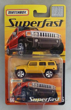 Matchbox Superfast MB66 Hummer H3 Yellow