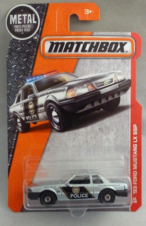Matchbox MB66 '93 Ford Mustang Police Car