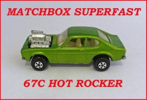 Matchbox Superfast MB67 Ford Capri Hot Rocker 67c