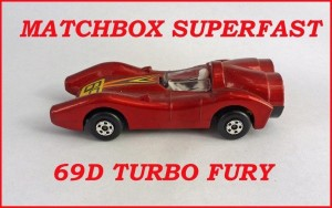 Matchbox Superfast MB69 Turbo Fury 69d