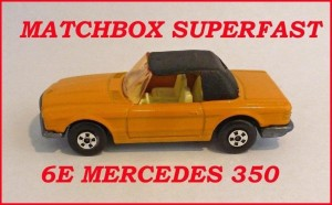 Matchbox Superfast MB6 Mercedes 350 SL 6e