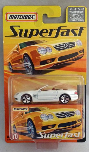 Matchbox Superfast MB70 Mercedes Benz SL55 AMG White