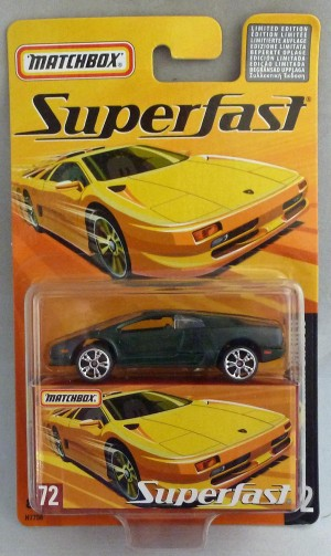 Matchbox Superfast MB72 Lamborghini Diablo Green