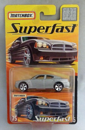 Matchbox Superfast MB75 2006 Dodge Charger R/T Silver