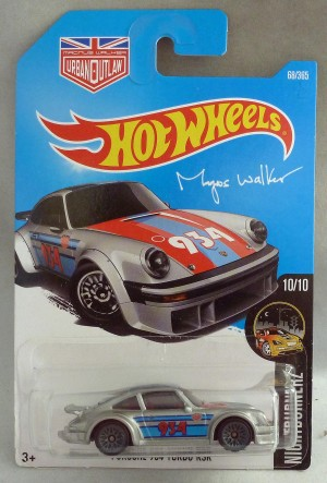 "HotWheels Porsche 934 Turbo RSR Silver ""Nightburnerz"""