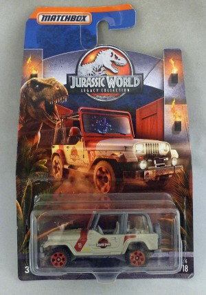 Matchbox Jurassic World '93 Jeep Wrangler #18 2/6