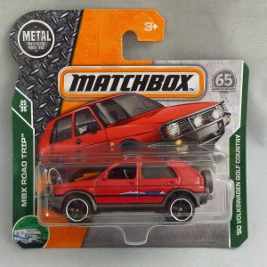 Matchbox MB99 '90 Volkswagen Golf Country Red Short Card