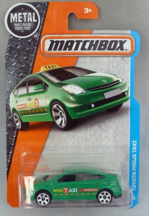 Matchbox MB9 Toyota Prius Taxi Green Long Card