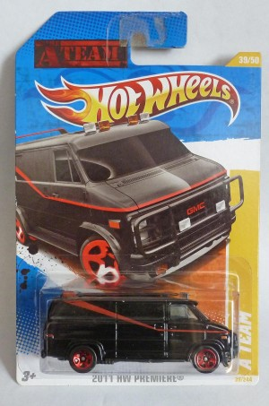 "HotWheels ""The A Team"" GMC Van Long Card"
