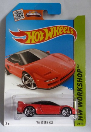 "HotWheels '90 Acura NSX Red ""HW Workshop"""