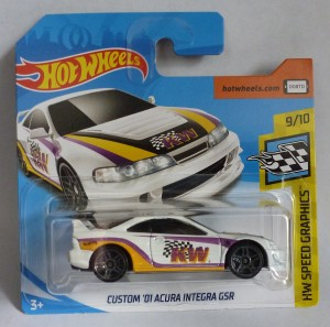 "HotWheels Custom '01 Acura Integra GSR KW ""HW Speed Graphis"" 3/10"