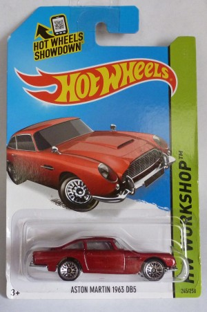 "HotWheels Aston Martin DB5 Dark Metallic Red ""HW Workshop"""