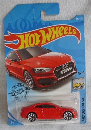"""HotWheels Audi RS 5 Coupe Red """"Factory Fresh"""" 3/10  Long Card"""