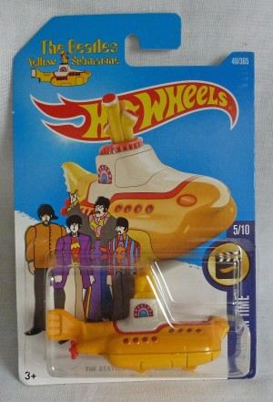 "HotWheels ""The Beatles"" Yellow Submarine Long Card"