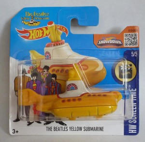 "HotWheels ""The Beatles"" Yellow Submarine Short Card"
