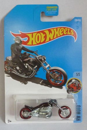 "HotWheels Blast Lane Chopper Bike Black ""HW Moto"""