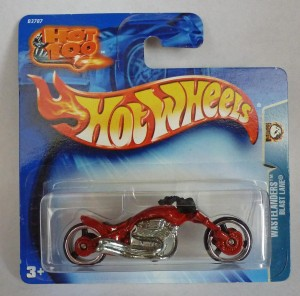 "HotWheels Blast Lane Chopper Bike Red ""Wastelanders"""