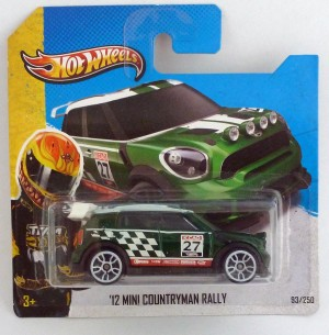 HotWheels '12 Mini Countryman Rally Green Short Card
