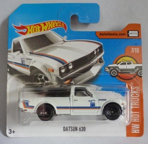 "HotWheels Datsun 620 Pick-Up White ""HW Hot Trucks"""