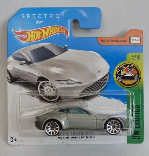 "HotWheels 007 James Bond Aston Martin DB10 SPECTRE ""HW Exotics"" Short Card 5/10"