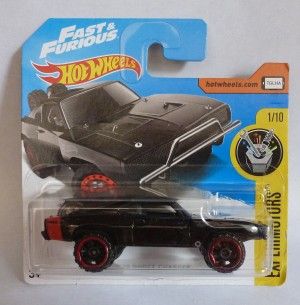 "HotWheels Fast & Furious '70 Dodge Charger ""Experimotors"" 1/10 Short Card"