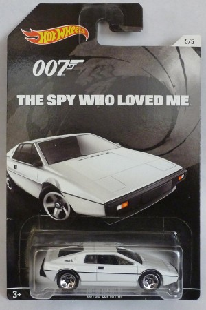 "HotWheels 007 James Bond Lotus Espirit ""The Spy Who Loved Me"" Long Card 5/5"