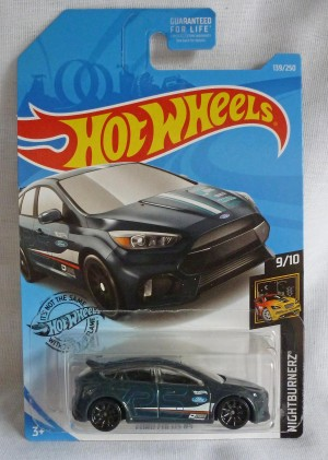 "HotWheels Ford Focus RS Grey ""Nightnurnerz"" 9/10"