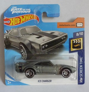 "HotWheels Fast & Furious ""The Fate of the Furious"" Ice Charger Short Card 8/10"