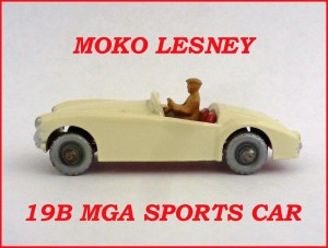 Moko Lesney Matchbox MB19 MGA Sports Car 19b
