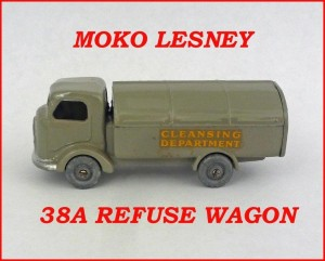 Moko Lesney Matchbox MB38 Karrier Refuse Wagon 38a