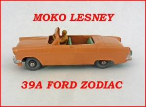 Moko Lesney Matchbox MB39 Ford Zodiac Convertible 39a